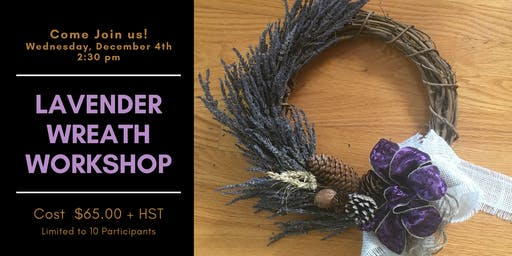 Afternoon Lavender Wreath Workshop