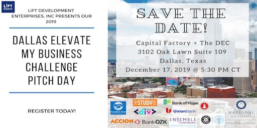 Dallas Elevate My Business Challenge Pitch & Networking Night