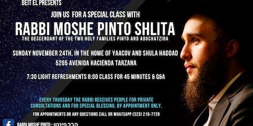 Zohar and Kabbalah class by Rabbi Moshe Pinto Shlita