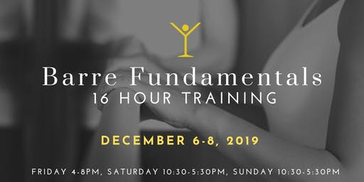 Barre Fundamentals Training