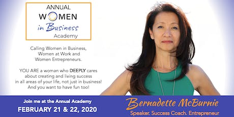 WOMEN IN BUSINESS ACADEMY 2020 - LEAD YOUR LIFE. LEAD YOUR SUCCESS. tickets