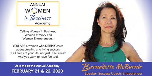 WOMEN IN BUSINESS ACADEMY 2020 - LEAD YOUR LIFE. LEAD YOUR SUCCESS.