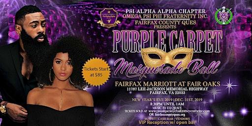"New Year's Eve ""Purple Carpet"" Masquerade Ball 2019 (Fairfax County Ques)"