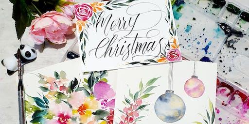 Simei: Festive Card Watercolour Workshop - 14 Dec (Sat)