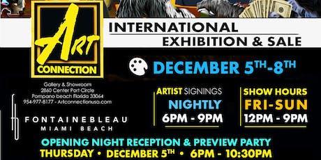 Art Connection Show & Sale Fontainebleau Art Week 2019 - DEC 5th - 8th tickets