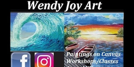 Wendy Joy Art Open Studio Vibrant Coastal Paintings on Canvas Ethelton tickets