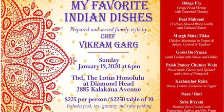 Chef Vikram Garg's Favorite Indian Dishes tickets