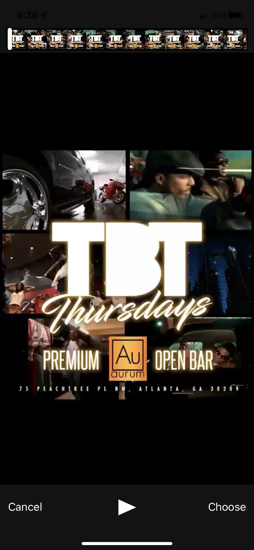 *Open Bar* TBT   ( AURUM) 90S-00'S edition.