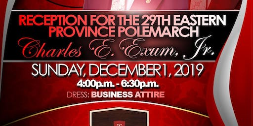 An Evening Honoring the 29th Eastern Province Polemarch Charles E. Exum, Jr