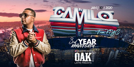 DJ CAMILO | Oak Room Latin Fridays 3rd Anniversary | 01.10.2020 tickets