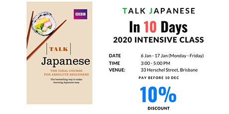 Talking Japanese Class for absolute beginners tickets