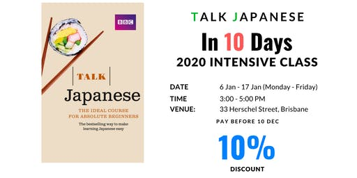 Talking Japanese Class for absolute beginners