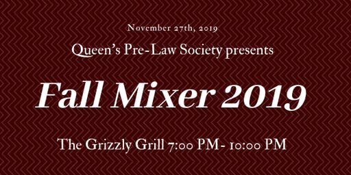 Queen's Pre-Law Society Fall Mixer 2019