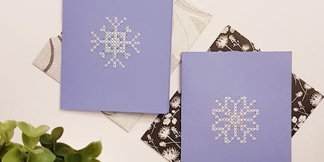 DIY Holiday Greeting Cards - Intro to Cross Stitch Workshop @ Queen of Hearts tickets