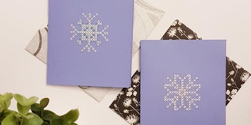 DIY Holiday Greeting Cards - Intro to Cross Stitch Workshop @ Queen of Hearts
