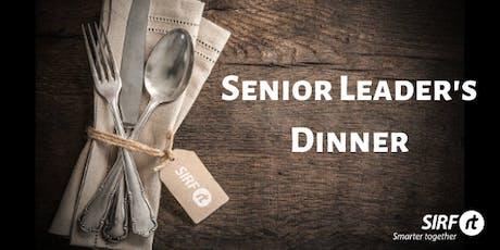 SIRF Vic/Tas Senior Leader's Dinner - Jim Glover VISY presenting tickets