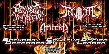 Astaroth Incarnate, Invicta, Age of Athena - Call The Office tickets