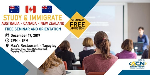 Study and Immigrate to Australia, Canada and New Zealand