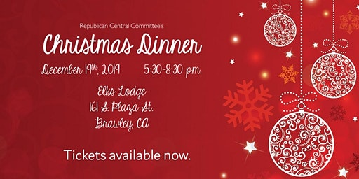 Imperial County Republican Party Christmas Dinner