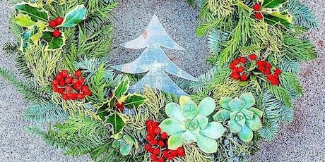 Christmas Wreath Workshop At Vine & Tap tickets