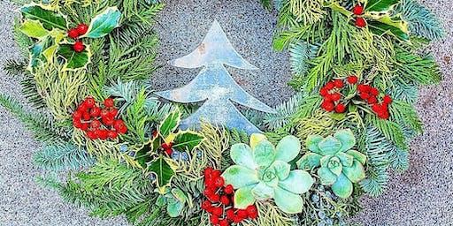 Christmas Wreath Workshop At Vine & Tap