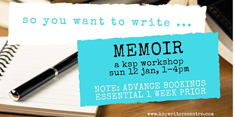 So You Want to Write ... 'Memoir' tickets
