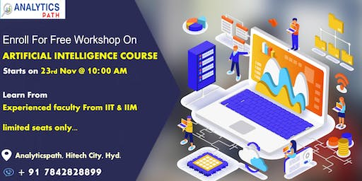 AI Workshop On 23rd November, at 10 AM By Analytics Path