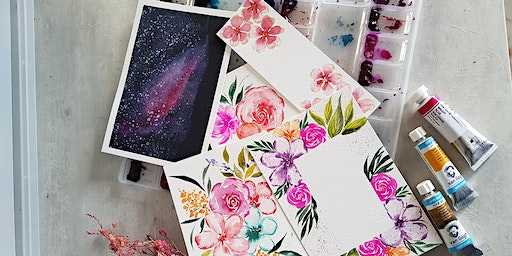 Simei: Watercolour Florals and Brush Lettering Course-  Feb 8 - Mar 28(Sat)