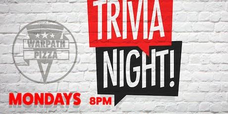 TRIVIA NIGHT at WARPATH PIZZA tickets