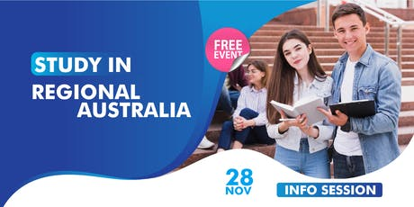 Information Session on Study in regional Area tickets