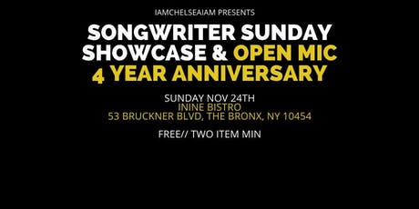 Songwriter Sunday: 4 Year Anniversary tickets