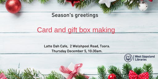 Seasons Greetings card and gift box making
