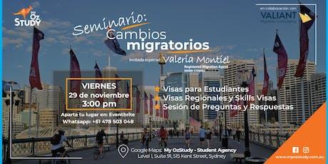 Seminario: Cambios Migratorios tickets