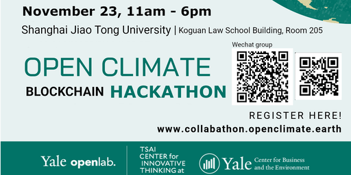 Yale Open Climate Collabathon 2019 Shanghai