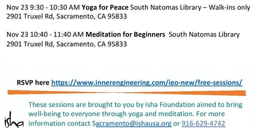 MEDITATION FOR BEGINNERS -  Free and open to all