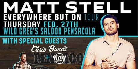 Matt Stell live at Wild Greg's Saloon Pensacola tickets