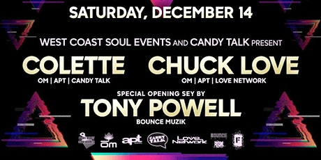CHUCK LOVE & COLETTE - WCS Events & Candy Talk pres. tickets