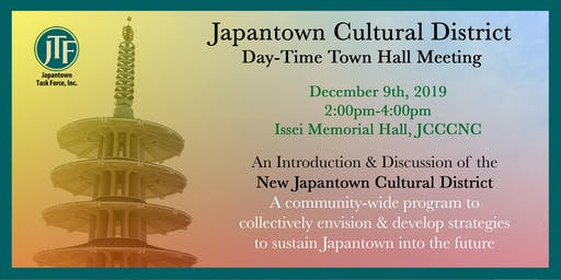 Japantown Cultural District Day-Time Town Hall Meeting