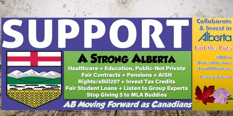 Rally Protest UCP's AGM Annual General Meeting Social/Jobs/Education/Health tickets