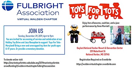 Walden Fulbright Holiday Toy Drive and Jazz Reception tickets