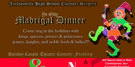 JHS Chamber Singers Madrigal Dinner & NSM's Natural State of Christmas Holiday Cabaret Saturday December 14