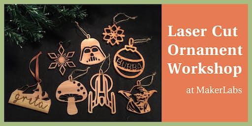 Laser cut ornament workshop