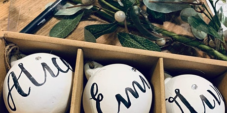 Brush Lettering & Christmas Baubles tickets