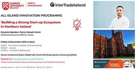 Building a Strong Start-up Ecosystem in Northern Ireland tickets