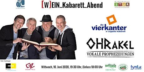 """ÖJW [W]EIN_Kabarett_Abend - Die Vierkanter """"OHRakel – vokale Prophezeiungen"""" Tickets"""
