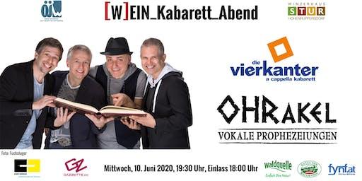 """ÖJW [W]EIN_Kabarett_Abend - Die Vierkanter """"OHRakel – vokale Prophezeiungen"""""""