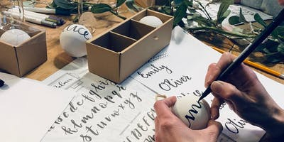Introduction to Brush Lettering & Christmas Bauble