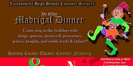 JHS Chamber Singers Madrigal Dinner & NSM's Natural State of Christmas Holiday Cabaret Thursday December 12 (Dessert Theater)