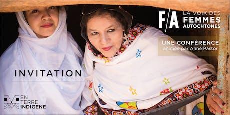 Invitation conférence / La voix des femmes autochtones billets