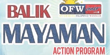 Balik Mayaman Action Program for OFWs tickets